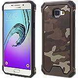 Samsung Galaxy A5 A510 (2016) Handy Tasche Outdoor Case TPU Hybrid Camouflage Hülle Braun
