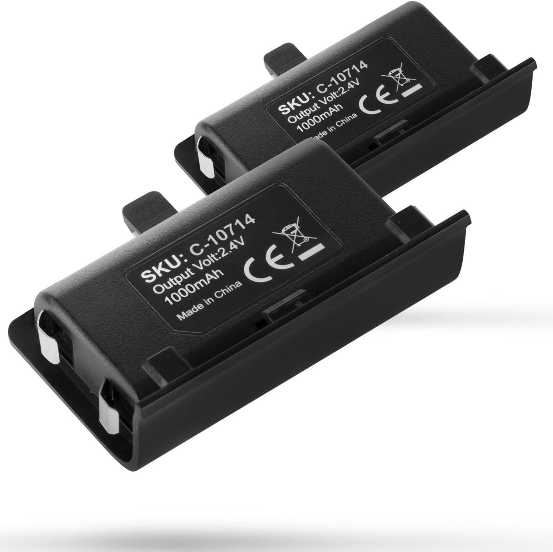 Fosmon (2 Paquetes Paquete de batería Recargable Xbox One Controller 1000mAh (Solo batería): Amazon.es: Electrónica