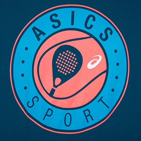 Asics CAMISETA PADEL SS GRAPHIC TOP AZUL: Amazon.es: Deportes y ...