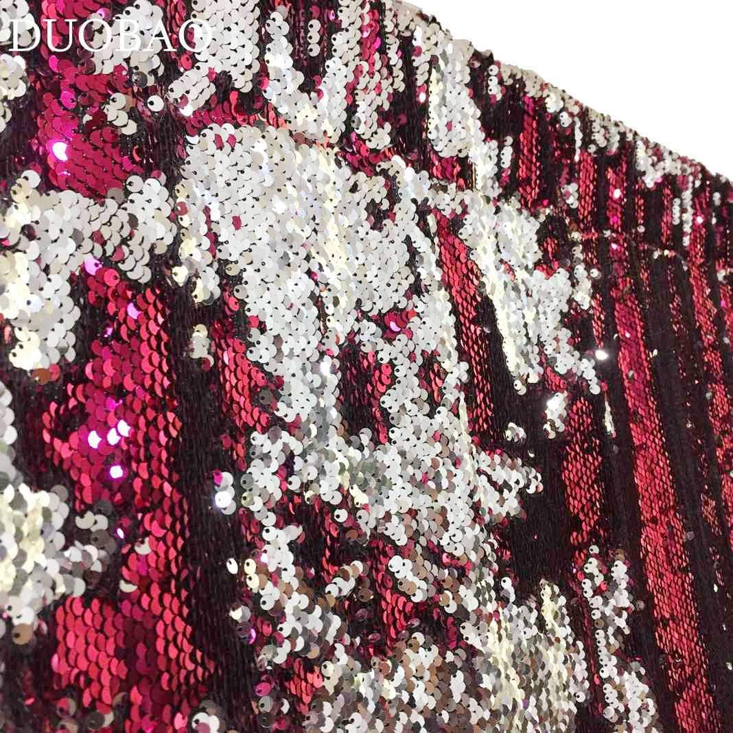DUOBAO Sequin Backdrop 20FTx10FT Fuchsia to Silver Shimmer Backdrop Mermaid Reversible Sequin Backdrop Curtain Bridal Shower Photo Booth Backdrop