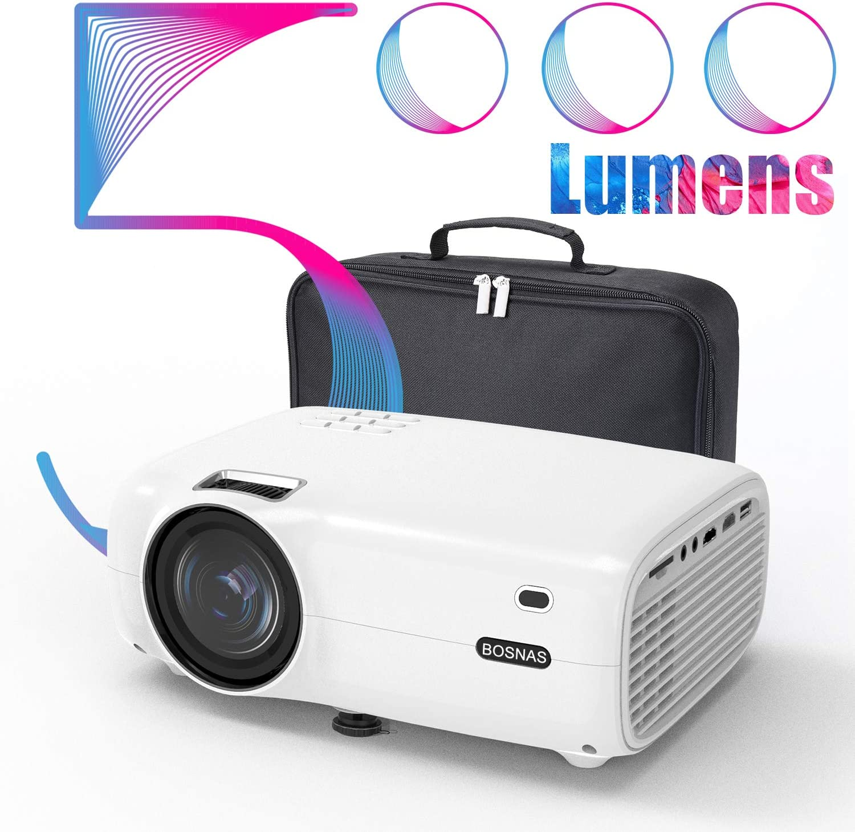 Proyector, 5000 Lúmenes Proyector Full HD Soporta 1920 x 1080P ...