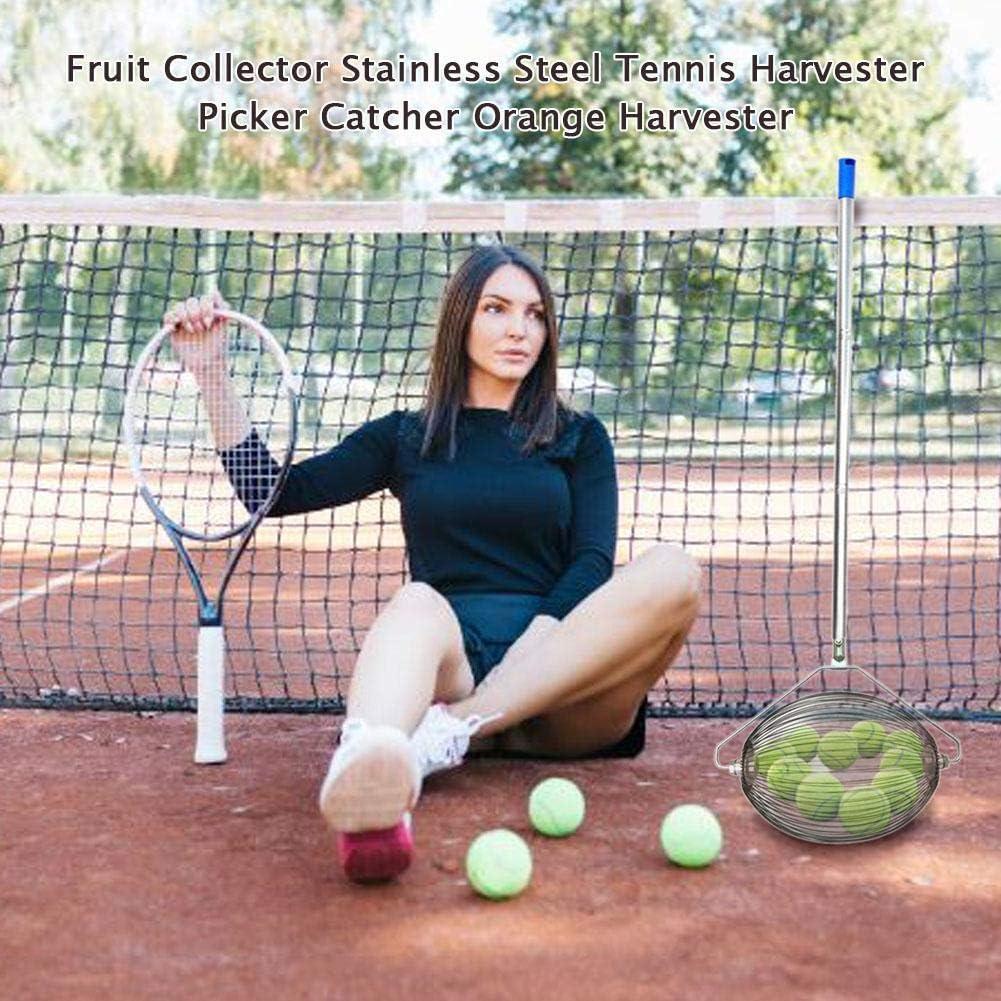 Collecteur De Fruits pour Les Cours Dures R/écolteuse De Tennis en Acier Inoxydable Les Cours dargile Ou Les Cours dherbe