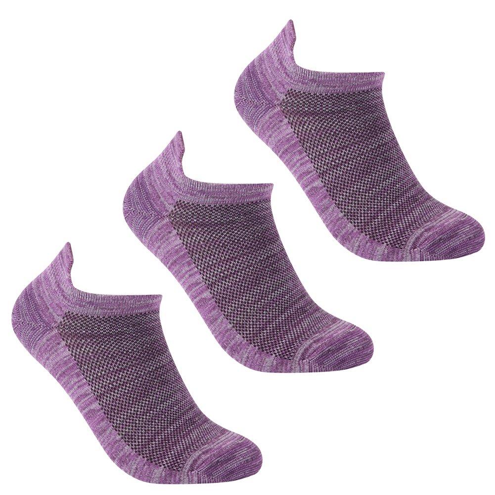 luccalilyユニセックスヒールタブMoisture Wickingローカットカジュアルスポーツ靴下1 , 3ペア B07B8GSQDW Medium|3 pair purple 3 pair purple Medium