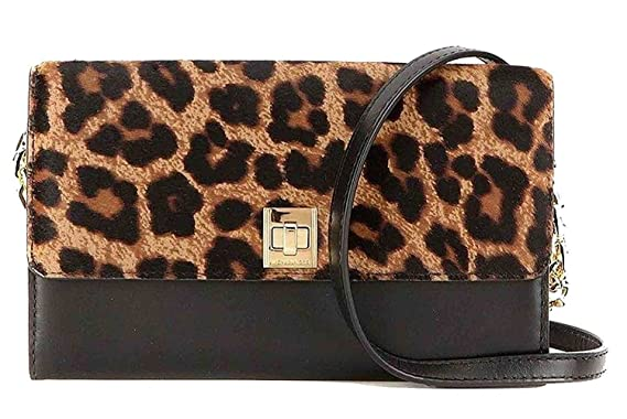 85c684cef875 Image Unavailable. Image not available for. Color  Michael Kors Natalie XL  Wallet On a Chain Natural Hair Calf Cheetah