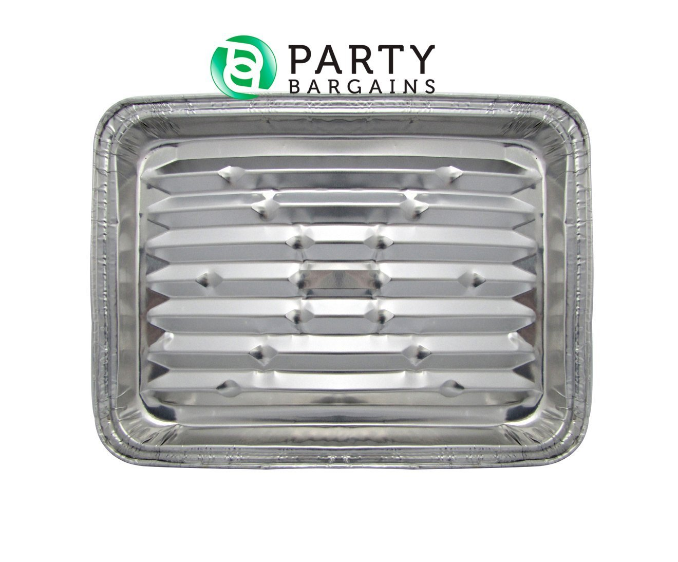 "Party Bargains Disposable Aluminum Broiler Baking Cooking Pan & Grill Liner, Sheets of Broiler Pans - Size 12 X 8 3/4"" X 1 1/ 