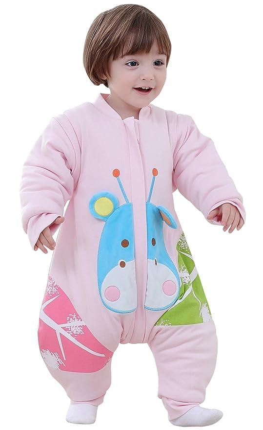 BEIFANCHEN - Bebés Niños Niñas Saco de Dormir Infantil Mono Pijama de Algodón para Invierno con