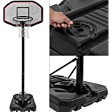 Deuba Mobiler Basketballkorb mit Rollen - Verstellbare Korbhöhe 205 - Max. 305cm