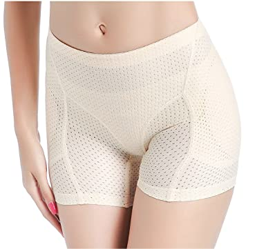 1c902c9a9e Image Unavailable. Image not available for. Color  Padded Boy Shorts Butt  Lifter Hip Enhancer Control Panty Seamless Shapewear for Women