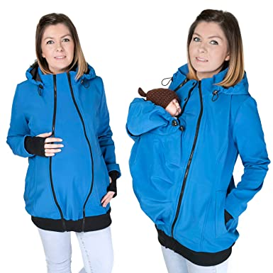 1cdb24737daab 3in1 ALL WEATHER Softshell Babywearing jacket maternity coat BABY CARRIER  NP16 (M - US8)