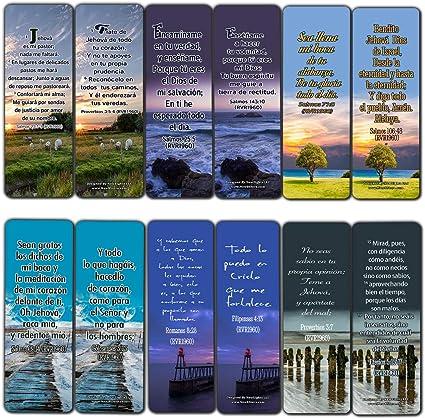 Verses de Biblia de España Potente para Vivir por Marcapáginas (RVR1960) (12 unidades) – Inspiradores Textos de Escritura Española: Amazon.es: Oficina y papelería