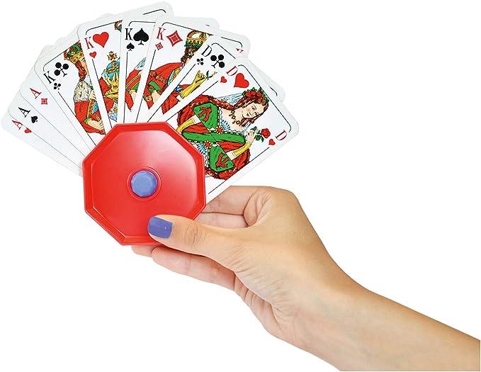 Noris Spiele 606154619 - Soporte de plástico para Cartas, Color Rojo (versión en alemán): Amazon.es: Juguetes y juegos