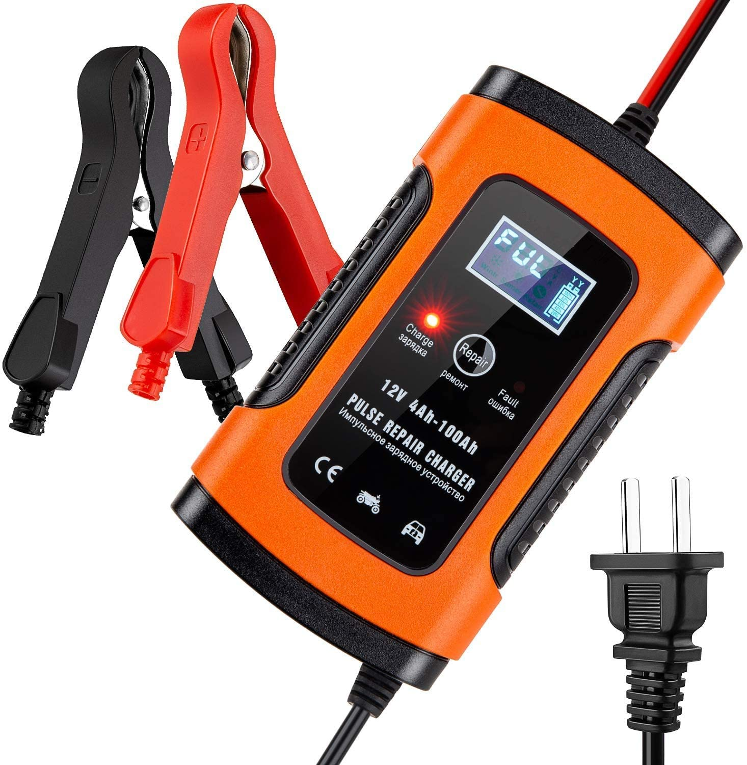 Meearo 5 Amp 12V Automotive Smart Battery Charger/Maintainer