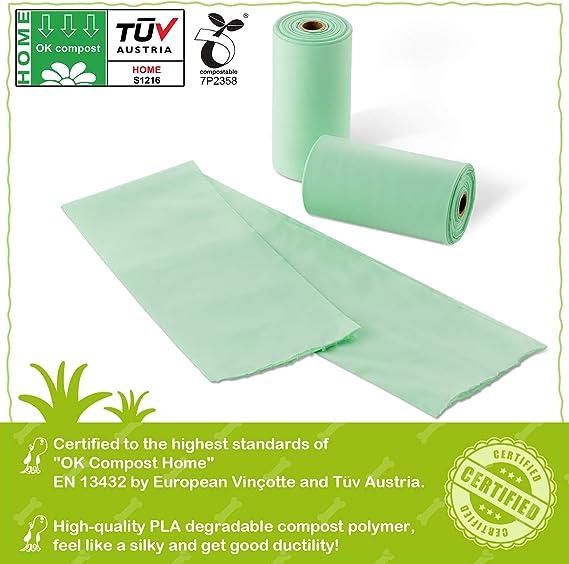 BIOOK Bolsas Caca Perro 100% Biodegradable con 1 Dispensador ...