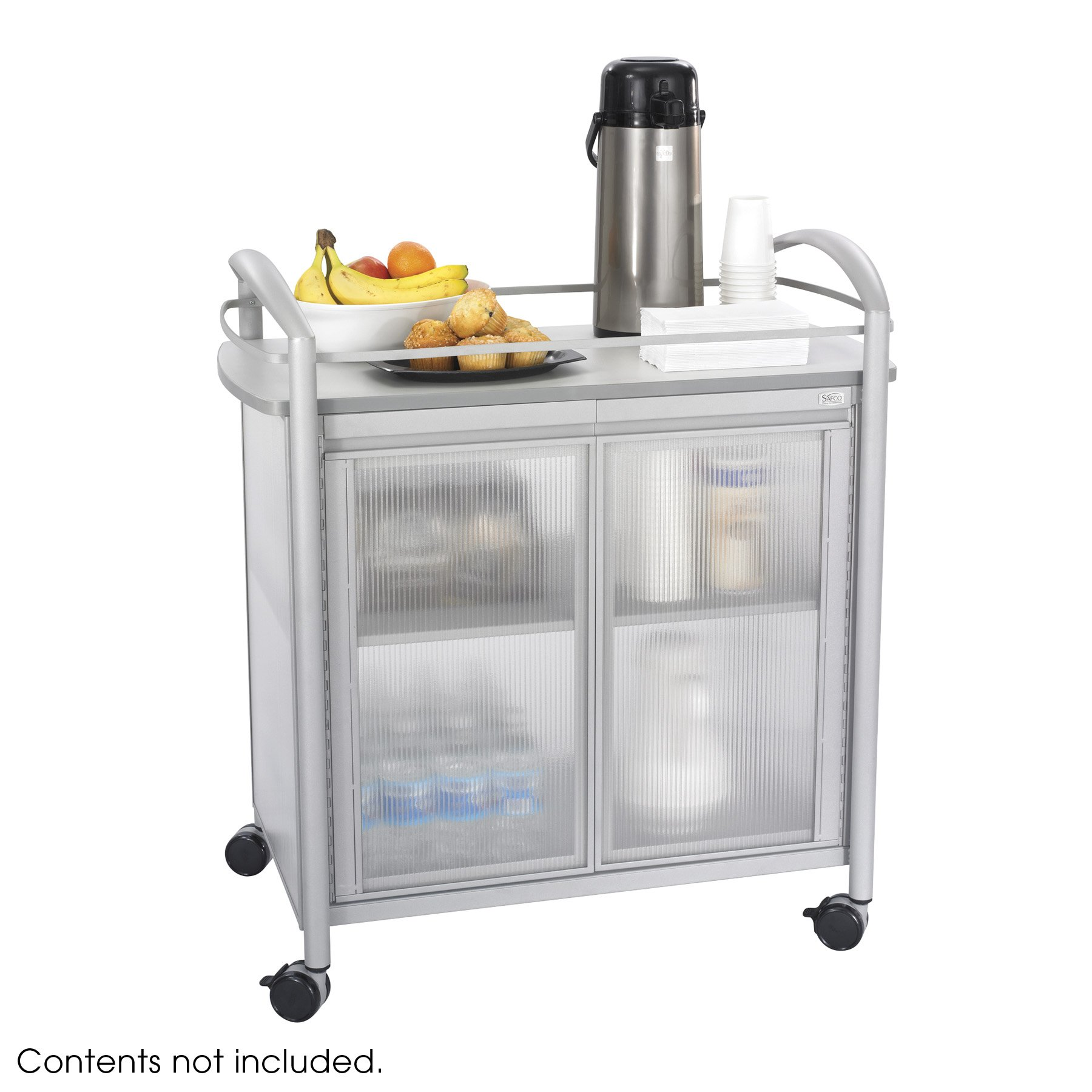 Safco Products 8966GR Impromptu Refreshment Hospitality Cart, Gray