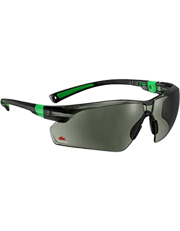 b85260b441a4 NoCry Work and Sports Safety Sunglasses with Green Tinted Scratch Resistant  Wrap-Around Lenses and