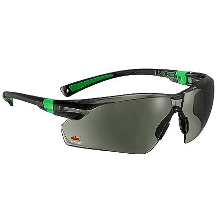 Gafas de sol de seguridad con lentes verdes resistentes a los arañazos y con agarre antideslizante, protección UV 400 de Nocry Ajustable, con moldura ...
