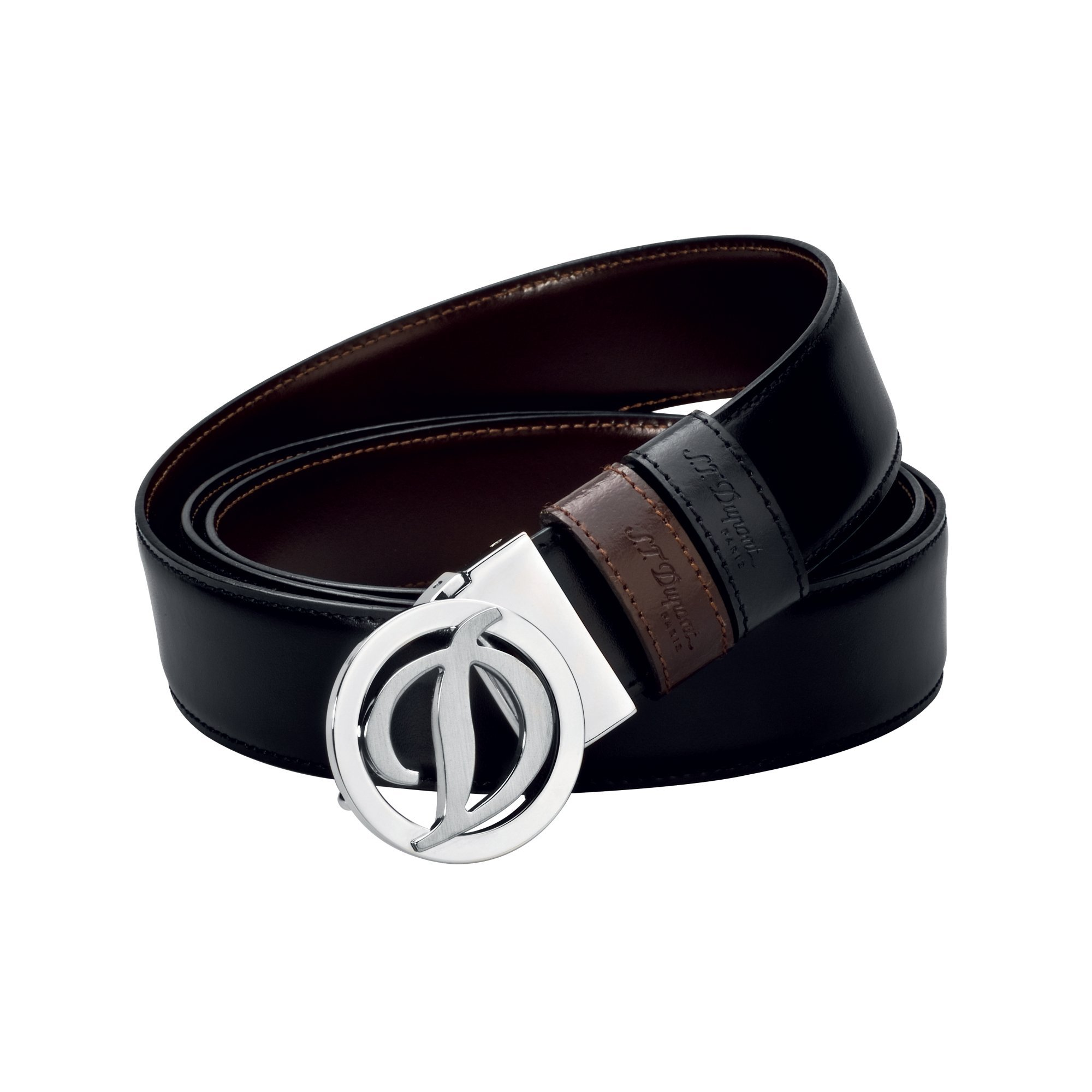 S.T. Dupont 7320120 Business Reversible Black/Brown Belt