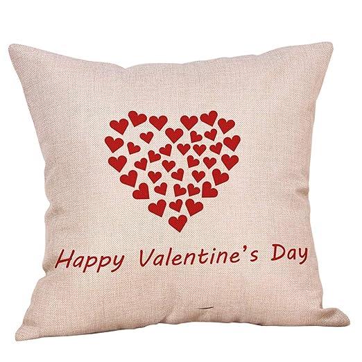 NPRADLA Cojín Fundas Funda de Almohada Happy LoveS Day ...