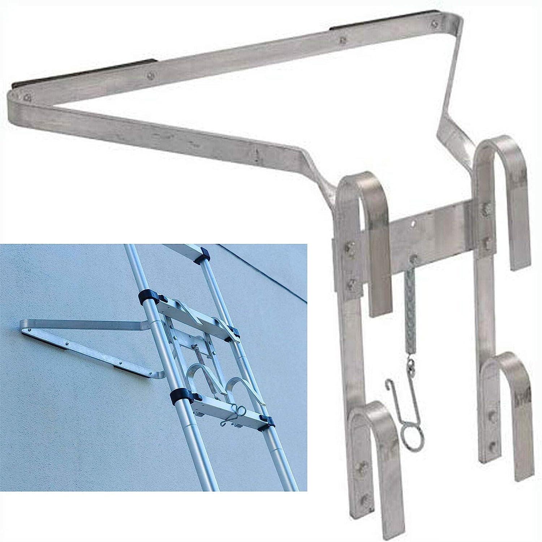 Escalera de aluminio resistente con soporte tipo I, ligera y fácil de instalar y desmontar, accesorio de escalera que ayuda a detener el deslizamiento de la escalera de lado a lado: Amazon.es: