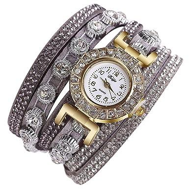 Naturazy-reloje Duoya,Reloj De Pulsera De Moda para Mujeres Reloj De Dama Reloj De Pulsera Redondo Pulsera De Cuarzo AnalóGica Relojes Mujer Deportivos: ...