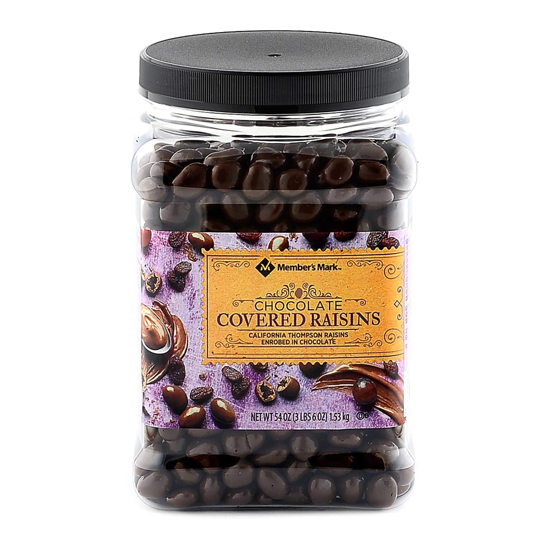 Chocolate Covered Raisins 54 OZ-Members Mark by Members Mark