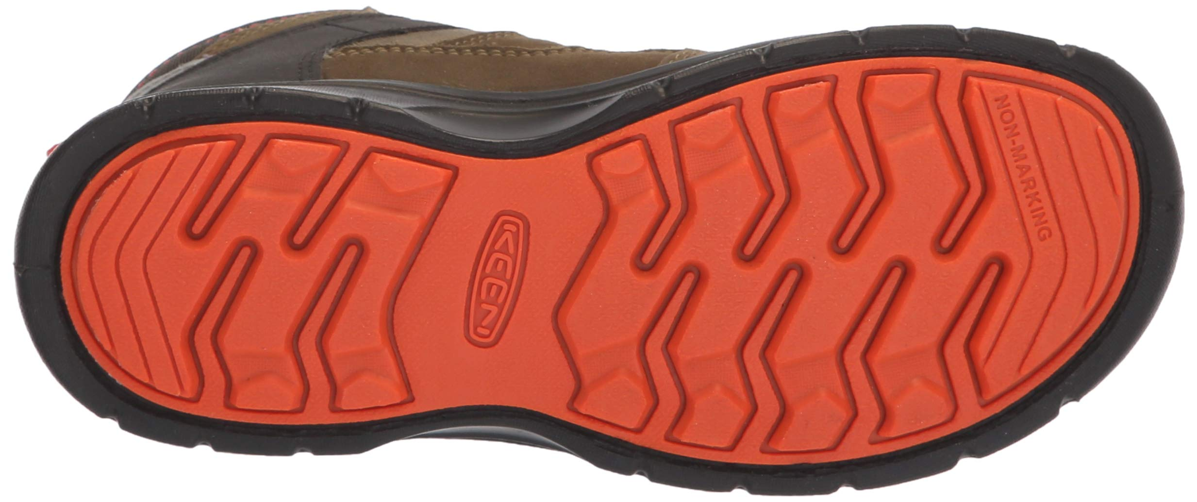 KEEN Unisex HIKEPORT MID WP Hiking Boot, Martini Olive/pureed Pumpkin, 12 M US Little Kid by KEEN (Image #3)