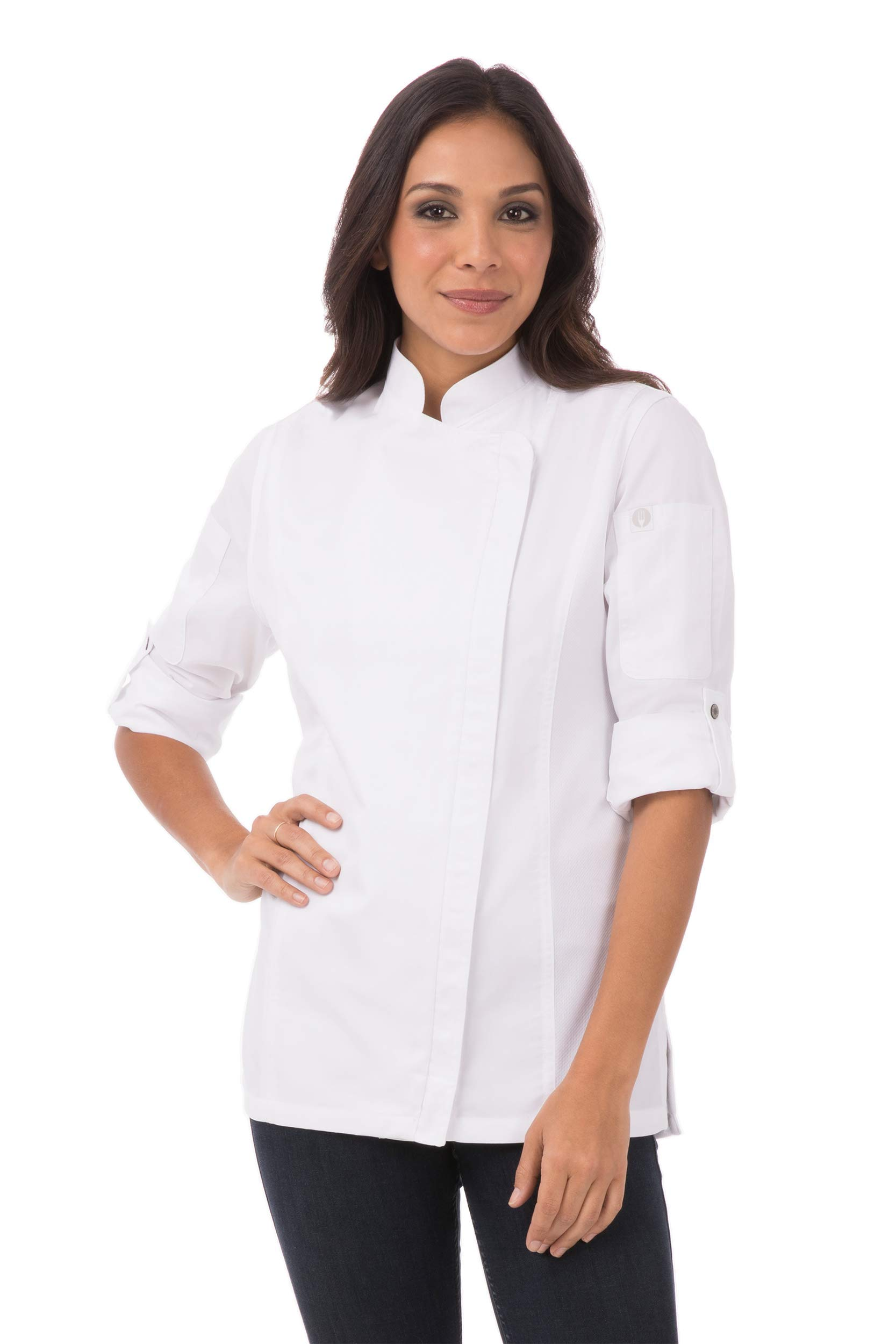 Chef Works Women's Hartford Chef Coat, White, Medium by Chef Works