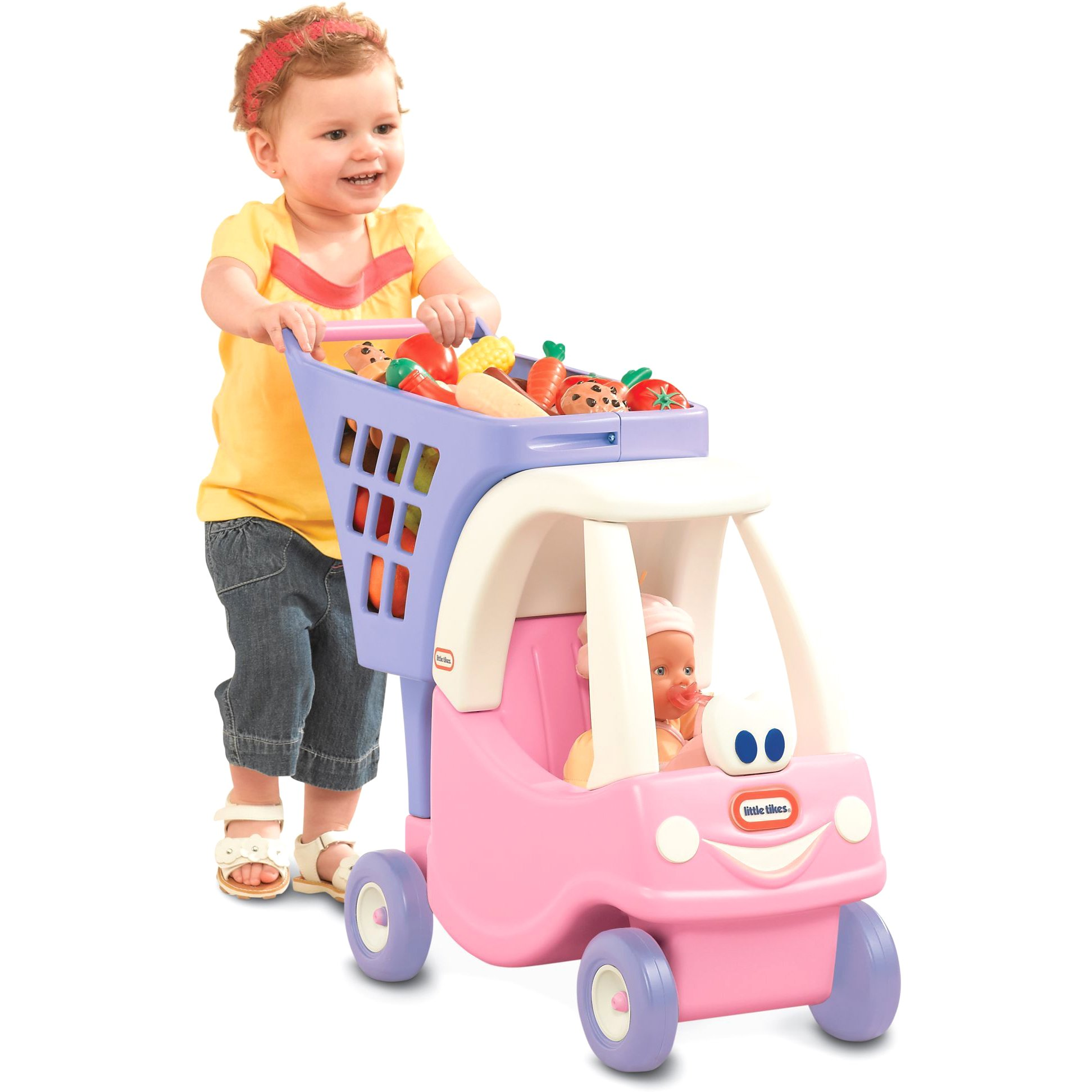 Princess Cozy Coupe Shopping Cart Is Perfect For Keeping Little Ones Busy by Little Tikes