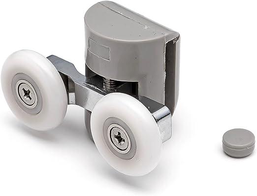 2 x superior doble para mampara de ducha de soportes para cañas de ...