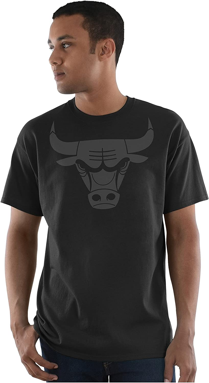 VF LSG NBA Leather Tek Patch Short Sleeve Crew Neck Tee-Brooklyn Nets