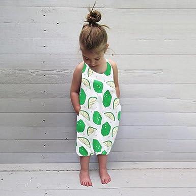 7cd75c063 PLOT Boys Girls Lemon Print Strap Pocket Rompers Jumpsuit Piece Pants  Clothes 1-5 T: Amazon.co.uk: Clothing