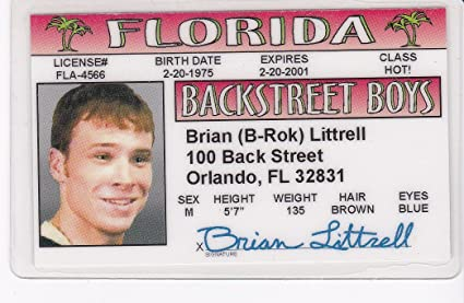 Fans Amazon For In Backstreet Littrell - in At d I India Online Prices Low Buy Identification Drivers License Boys Brian Novelty Fake