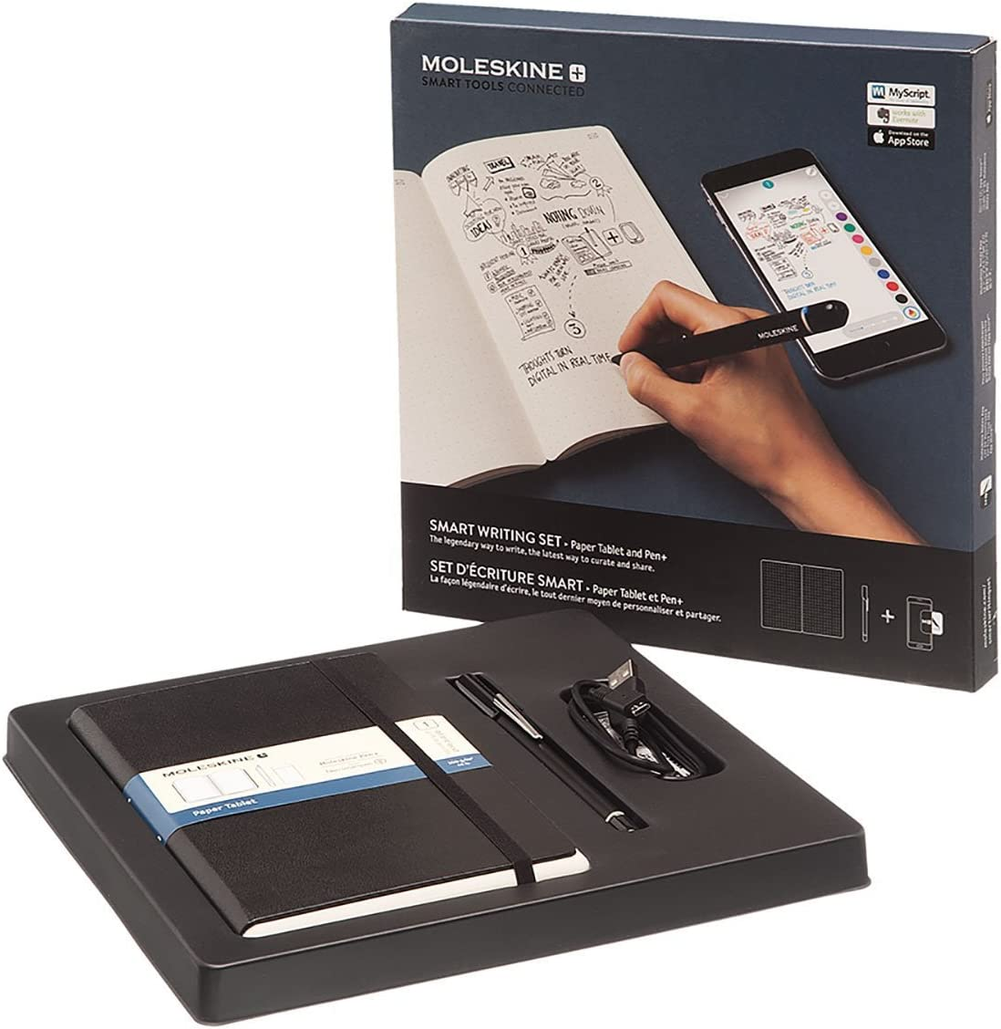 Moleskine Smart Writing Set Notebook And Pen Smartpen Notebook With Black Hard Cover Suitable To Use With Pen Moleskine Black Color Dotted Sheets Moleskine Amazon Co Uk Office Products