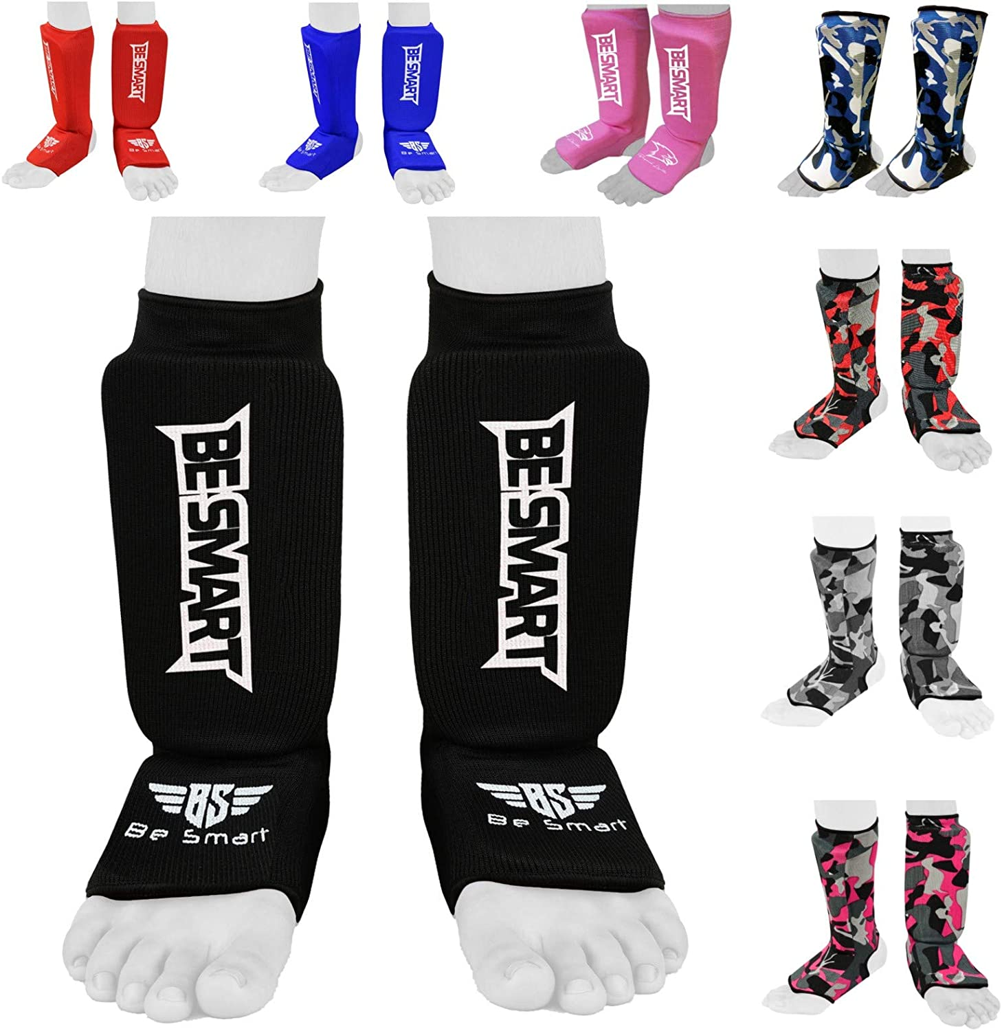 SHIN INSTEP GUARDS PADS FOOT LEG PROTECTOR MMA UFC GYM KARATE KICK BOXING L//XL