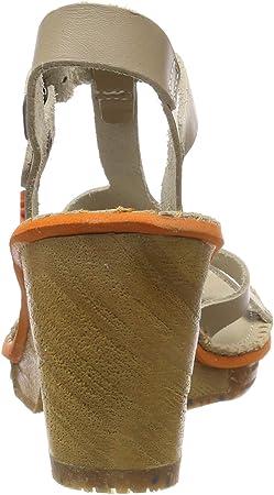 Art 1079 Becerro Sand/Amsterdam, Sandalias con Correa de Tobillo para Mujer