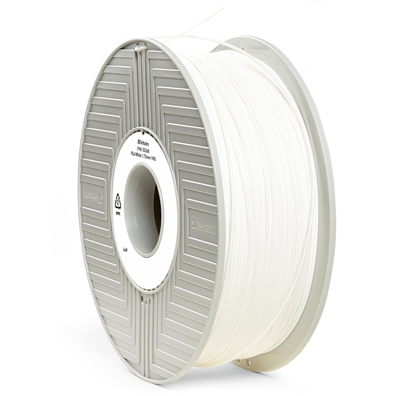 Verbatim 1.75 mm PLA Filament for Printer - White 55268
