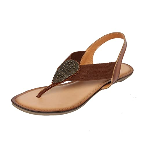 Buy Catwalk Tan Leather Sandals for