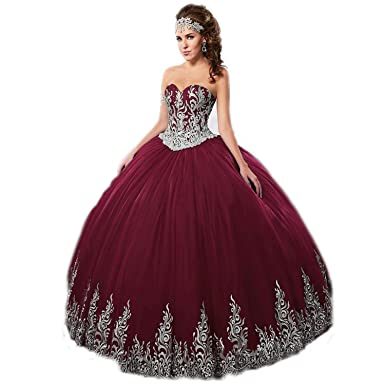 61b87f73f36 Haokeda Gold Lace Applique Quinceanera Dresses with Jacket Sweetheart Ball  Gown for Wedding Bridal Patry (