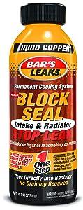 5. Bar's Leaks 1109 Block Seal Liquid Copper Intake and Radiator Stop Leak - 18 oz.
