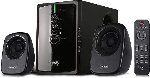Impex 2.1 MUSIK-R 40 W Portable Multimedia Bluetooth Speaker System (Black)