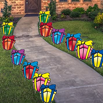 VictoryStore Yard Sign Outdoor Lawn Decorations Birthday Cards Large Presents Decoration