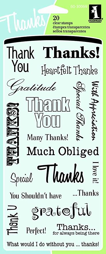 amazon com inkadinkado thank you words clear stamps arts crafts