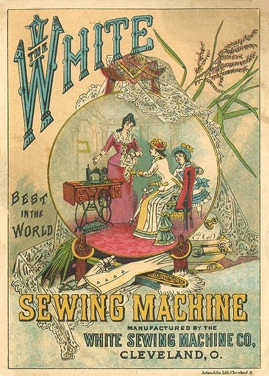 Vintage ropa y accesorios LA blanco máquina de coser. El mejor en ...