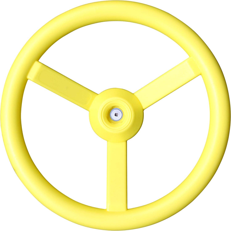 KidKraft- Volante para casas de juguete de exteriores, para parques infantiles de madera y columpios, Color Amarillo (A24500X)