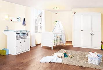 Pinolino 100025G   Kinderzimmer Laura Groß, 3 Teilig, Bestehend Aus  Wickelkommode, 3