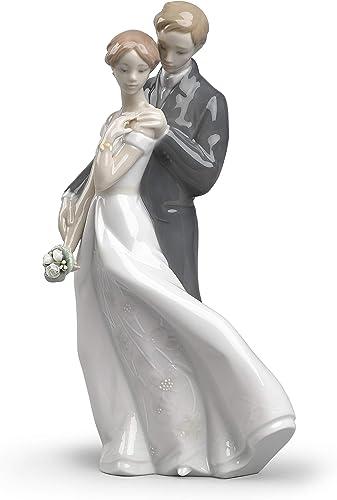 LLADR Everlasting Love Couple Figurine. Porcelain Anniversary Figure.