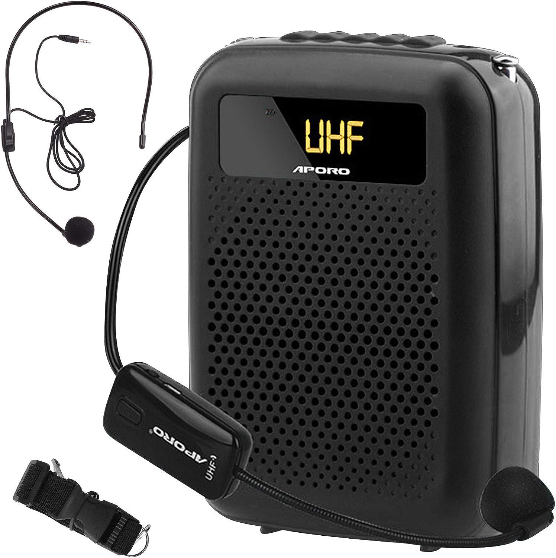 Minterest Amplificador de Voz(12W), 2200mAh Multifuncional Portátil Mini Altavoz de Voz Bluetooth Reducción de Ruido con Micrófono Inalámbrico para Conferencias de Profesores