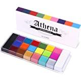 UCANBE 20 Color Athena Face Body Paint Oil - Large Pan Black & White, Professional Non Toxic SFX Makeup Palette…