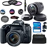 Canon EOS 77D EF-S 18-55 is STM Kit - Deal Expo Basic Accessories Bundle
