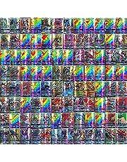 110-delige Pokemon-kaartenset, Cartoon Game Card GX-ruilkaarten voor kinderen met 95 GX Pokemon-kaarten en 5 Mega Pokemon-kaarten